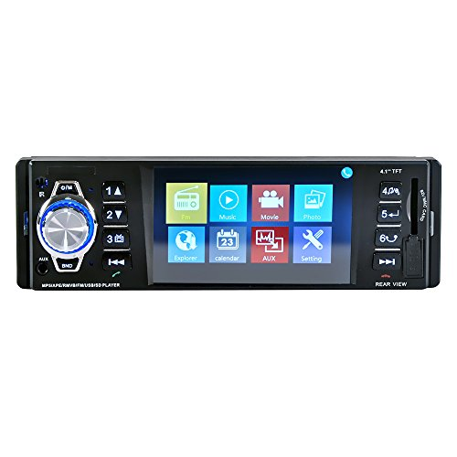 - ZJYYD Car MP5 Player & MP4 Card Machine,4016BT 4.1 Inch HD TFT Screen Bluetooth Hands-Free FM Radio Car Charger Reversal Priority