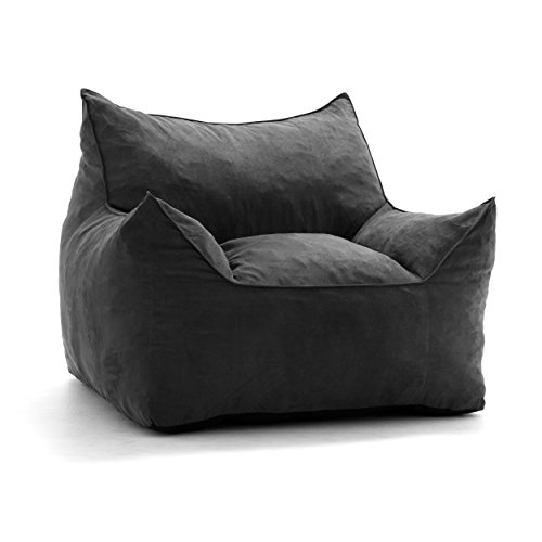Big Joe Imperial Lounger in Comfort Suede Plus, Black