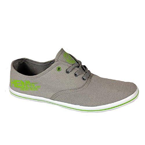 Henleys Zapatos de cordones de Lona para hombre Grau-Grün, color gris, talla 42.5