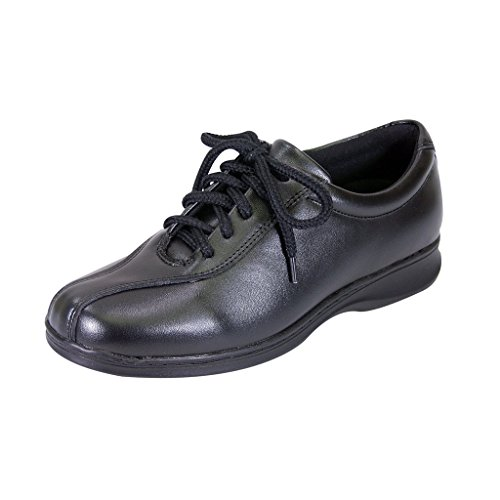 24 Hour Comfort  Valerie Women Extra Wide Width Lace up Shoes Black 11 by 24 Hour Comfort