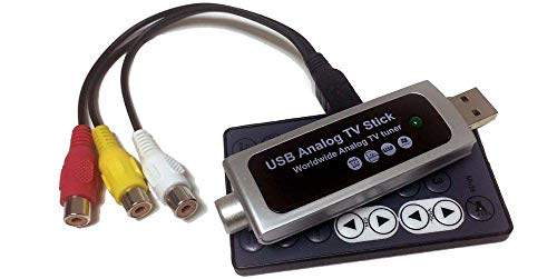 Universal Analog USB Cable TV Tuner With RCA A/V Input + DVR (Best Modulator Usbs With Cameras)
