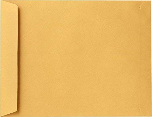 Brown Kraft Booklet Envelopes on 28lb. Pack of 50 (10 x 15)
