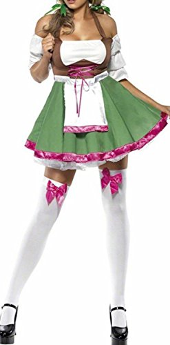 COSWE Adult German Beer Girl Oktoberfest Outfit for Women
