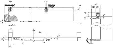 Kit para puerta plegable, con riel de 1 m: Amazon.es: Bricolaje y herramientas