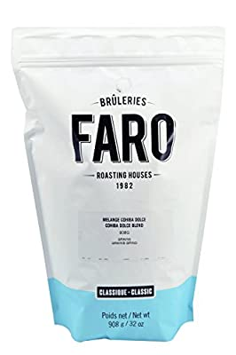 Faro Roasting House Cohiba Blend Whole Bean Coffee 2lb, 100% Arabica Coffee Bean Blend - Whole Bean Coffee - Fresh Medium Roast Coffee Beans (2 Pound Bag)