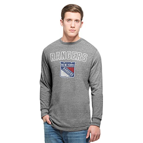 Ny Rangers Classic Shirt (NHL New York Rangers Men's 47 Team Tri-State Long Sleeve Tee, X-Large, Vintage)