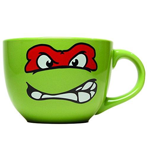 Silver Buffalo TWASTNT24 Nickelodeon Teenage Mutant Ninja Turtles Faces Soup Mug , 24-Ounces (Ninja Turtles Face)