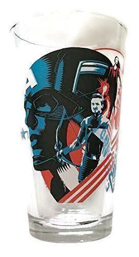(Captain America Civil War Collector Series Pint Glass - Officially Licensed (5-3/4 Tall))