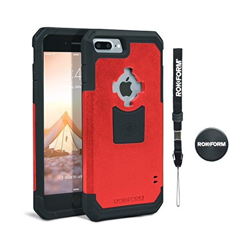 rokform iphone 8  u0026 7 plus rugged series military grade magnetic protective phone case with twist