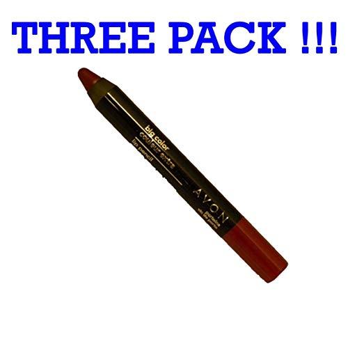 Lot of 3 Avon Big Color Lip Pencil in shade Portwine