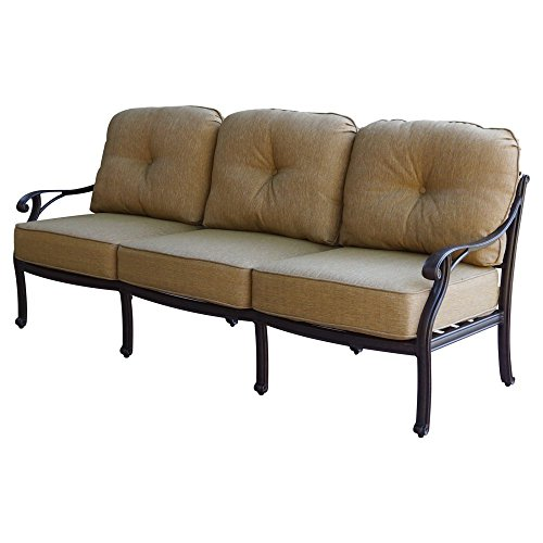 K&B PATIO LD1031-23 Nassau Sofa with Cushion, 32