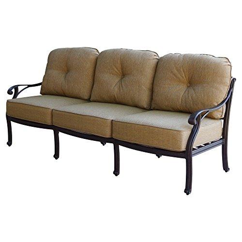 Aluminum Sofa - K&B PATIO LD1031-23 Nassau Sofa with Cushion, 32