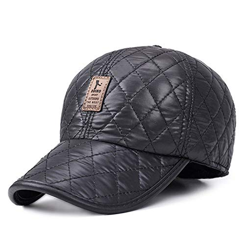 eb4a83656e3 AETRENDS Men s Hats Outdoor Sport Baseball Hat with Ear Flaps Winter Dad Cap  (Black)