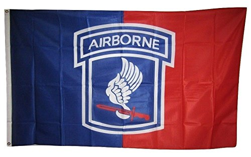 ALBATROS 3 ft x 5 ft U.S. Army 173rd Airborne Division Knitted Nylon Premium Flag Grommets for Home and Parades, Official Party, All Weather Indoors Outdoors (Airborne Division 173rd)