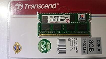 Transcend 1600Mhz Laptop Ram Pc3L Low Voltage 1 35V Laptop Memory, 8 GB  Capacity (Multi-Colour)