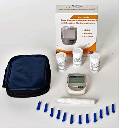 EASYLIFE Glucose,Cholesterol,Uric acid Test Meter Kit,Monitor.CE Approved!