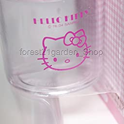 Hello Kitty Paper Clip Dispenser Magnetic Holder - Pink Color - 1 Pcs