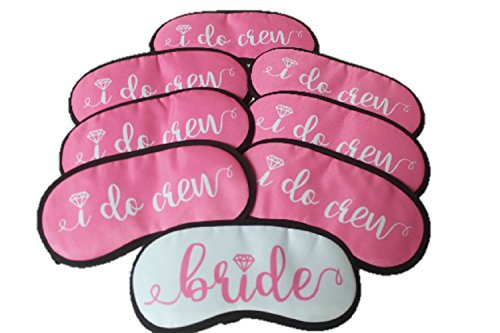Bride and Bridesmaids Sleep Mask Gift Set : Set Of 8 - Bachelorette party favor
