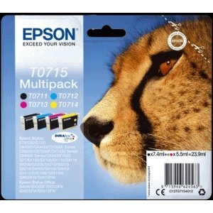 Epson Cartuchos de Tinta Epson t071540 a0 Negro + Colores Multi ...