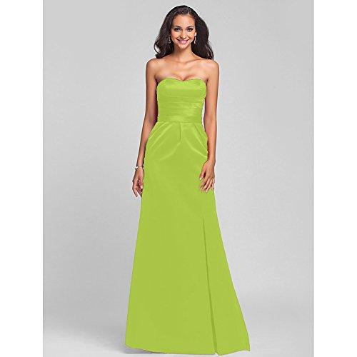 Mermaid sera abito collo con Verde Lunghezza da pianale Prom Mikado formale Sarahbridal Lime da tromba cordone kekafu gioiello dqPWCgd