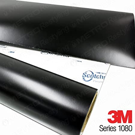 3M 1080 S12 SATIN BLACK 5ft x 6ft Car Wrap Vinyl Film 30 sq//ft