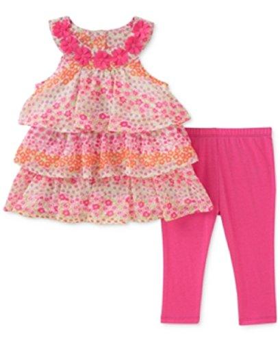 Kids Headquarters Baby Girls 2-Pc. Tiered Ruffle Tunic & Leg