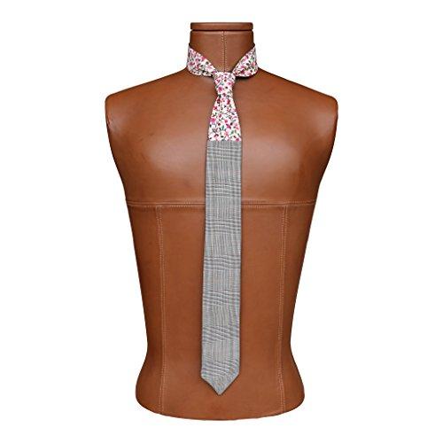 - Block Floral Reversible Tie