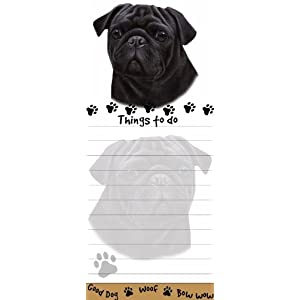 "Pug ""Magnetic List Pads"" Uniquely Shaped Sticky Notepad Measures 8.5 by 3.5 Inches"