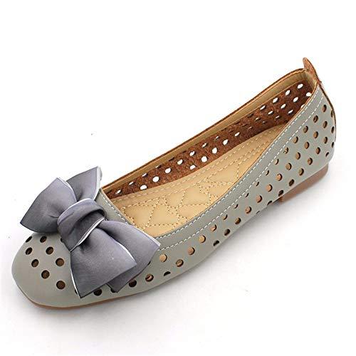 FLYRCX Moda Casual Europea Arco Dulce Boca Plana Sandalias Planas Zapatos de Trabajo de Las Mujeres Embarazadas, 39 UE 36 EU