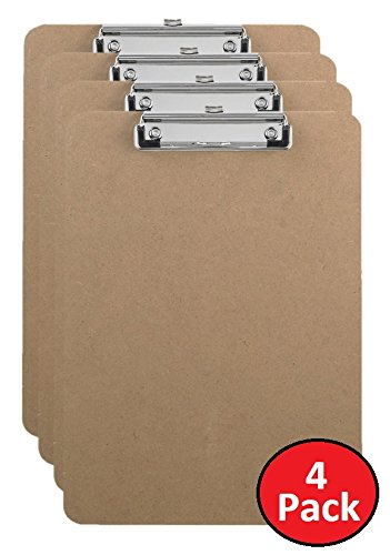 1InTheOffice Clipboard 9 x 12.5 Clip Board Rubber Grip Hardboard