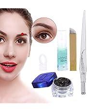 3D permanent makeup ögonbryn tatuering nålar nålar pigment set droppe pigment, ögonbryn mikro blading penna + tatuering pigment + manuell + ögonbryn och eyeliner reparationsgel