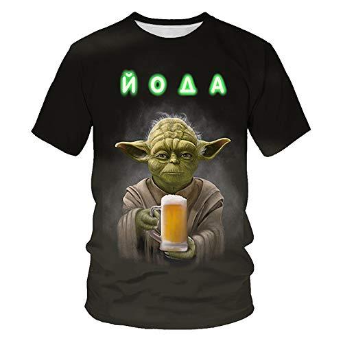 Star Wars 3D Pattern Print Summer T-shirt, Star Wars Darth Vader, uniseks, korte mouwen, casual, sweatshirt Top Cadeaux…