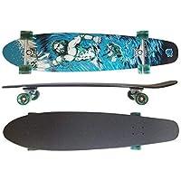 MAXOfit® Deluxe Cruiser Longboard | Komplettboard mit ABEC-11 Kugellagern | Drop-Through bis 107 cm