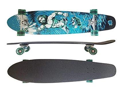 MAXOfit® Deluxe Cruiser Longboard   Komplettboard mit ABEC-11 Kugellagern   Drop-Through bis 107 cm