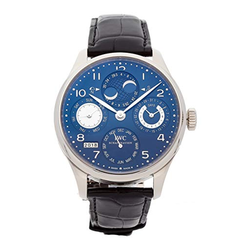 - IWC Portugieser Mechanical (Automatic) Blue Dial Mens Watch IW5032-03 (Certified Pre-Owned)