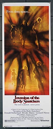 Invasion Of The Body Snatchers (1978) Original U.S. Insert Movie Poster 14×36 Rolled Very Fine Condition DONALD SUTHERLAND BROOKE ADAMS JEFF GOLDBLUM Film directed by PHILIP KAUFMAN