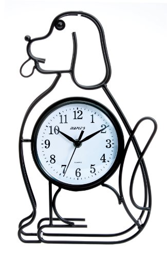 "Maple's Dog Silhouette Table Clock - Package Height of the Product: 20.0"" Package Length of the Product: 20.0"" Pacakge Width of the Product: 15.0"" - clocks, bedroom-decor, bedroom - 41D3FsHlX1L -"