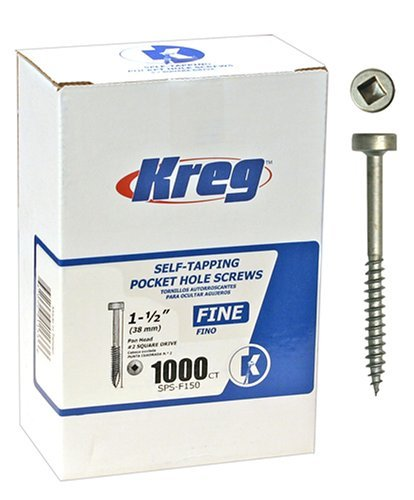 Kreg SPS-F150-1000 Pocket Hole Screws 1-1/2-Inch #2 Fine Pan-Head 1000ct by Kreg [並行輸入品] B0184XN3Y4