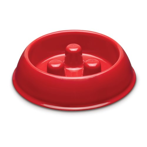 Brake-Fast Dog Food Slow Feed Bowl - Small Red - Import It All - photo#28