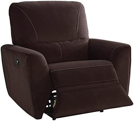 Homelegance Dowling Fabric Upholstered Reclining Chair, Brown