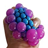 Party Propz Grape Ball Stress Relief Hand Squeeze Toy Balls (Multicolour)