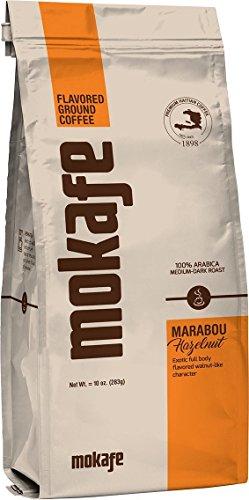 Mokafe Marabou Hazelnut Flavored - Ground Organic Gourmet Coffee - Medium Roast Premium Haitian - 100% Exotic Arabica