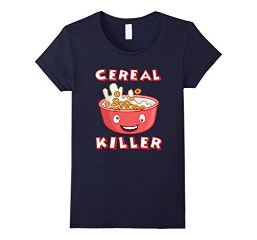 Womens Original Cereal Killer Shirt - Halloween Costume Shirt Small Navy