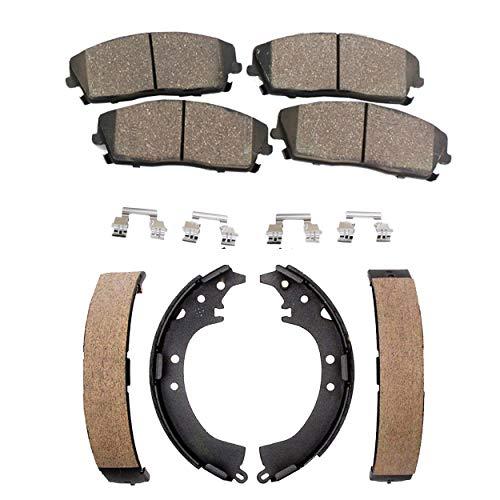 (Detroit Axle - Front Ceramic Brake Pads + Rear Brake Shoes for 2008-2014 Scion xD - [2009-2018 Toyota Corolla])