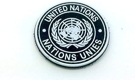 Las Naciones Unidas PVC negro Airsoft parche: Amazon.es: Deportes y aire libre