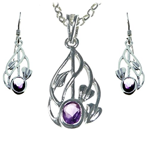 Sterling Silver Charles Rennie Mackintosh Pendant & Earring Gift ()