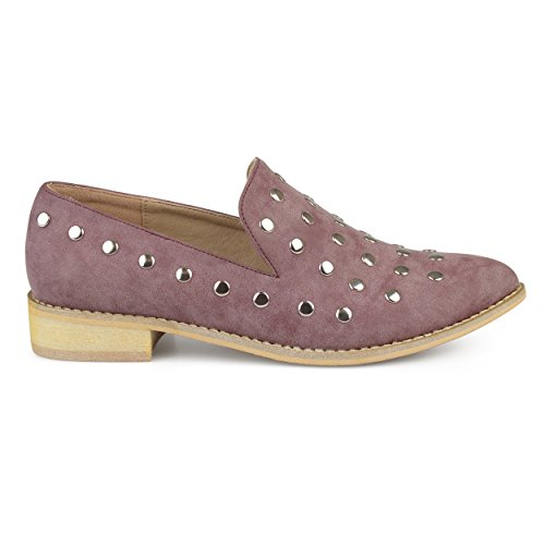 Brinley Co Femmes Nubuck Stud Bout Pointu Appartements Violet