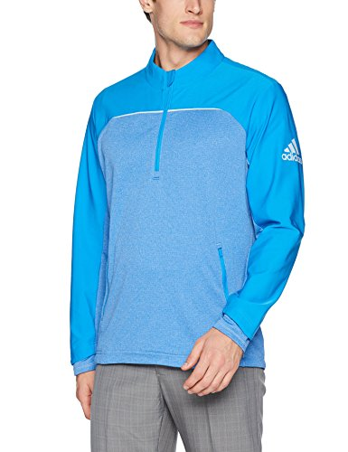adidas Golf Men's Go-to Adapt 1/4 Zip Pullover Jacket, XX-Large, Bright Blue/Fresh Splash s