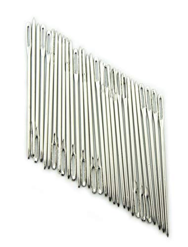 HAND T58 Steel Easy to Thread Sewing Needles Large Eyes - Pack of 30
