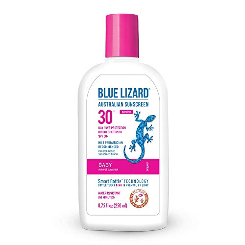 Blue Lizard Australian Sunscreen – Baby Sunscreen, SPF 30 Broad Spectrum UVA UVB Protection – 8.75 oz. Bottle